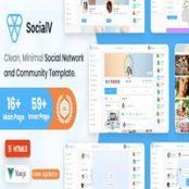 قالب HTML و Vue Js شبکه اجتماعی SocialV