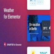 افزونه پیش بینی آب و هوا Synopter برای المنتور