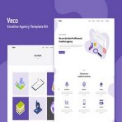 دانلود Veco – Creative Agency Template Kit برای المنتور