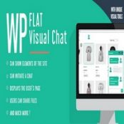 افزونه WP Flat Visual Chat برای وردپرس
