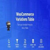 افزونه WooCommerce Variations Table برای وردپرس