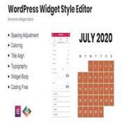 افزونه WordPress Widget Style Editor برای المنتور