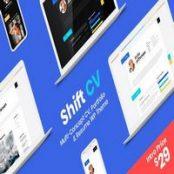 قالب رزومه و نمونه کار ShiftCV برای وردپرس