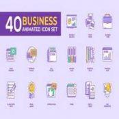 ست ۴۰ آیکن شرکتی متحرک برای افتر افکت