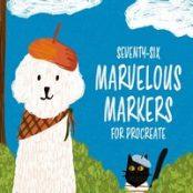 مجموعه براش ۷۶ Marvelous Markers برای پروکریت
