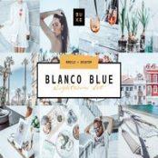 پریست لایتروم Blanco Blue Lightroom Preset