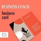 طرح لایه باز کارت ویزیت Business Coach