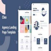قالب HTML صفحه فرود Cleo
