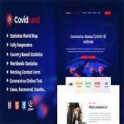 قالب اطلاع رسانی پزشکی CovidLand