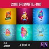 طرح بنر تخفیف برای پریمیر Discount Offer Banner Title – Mogrt