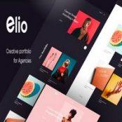 قالب HTML نمونه کار Elio