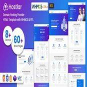 قالب HTML و WHMCS راست چین Hostlar