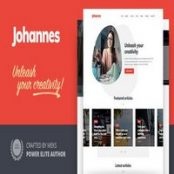 قالب وبلاگ شخصی Johannes برای وردپرس