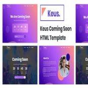 قالب HTML5 به زودی Keus