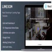 قالب صفحه فرود Linexon
