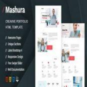 قالب HTML نمونه کار Mashura