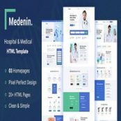 قالب HTML سایت پزشکی Medenin