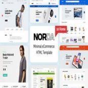 قالب HTML فروشگاهی Norda