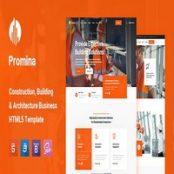 قالب HTML5 ساختمانی Promina