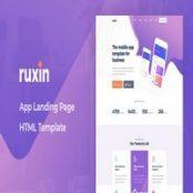 قالب HTML صفحه فرود Ruxin