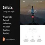 قالب تک صفحه Sematic برای جوملا