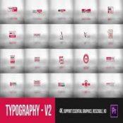 دانلود Typography Essential V2 – Mogrt برای پریمیر پرو