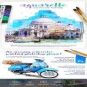 اکشن نقاشی آبرنگ Aquarelle برای فتوشاپ