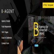 قالب اچ تی ام ال شرکتی B-Agent