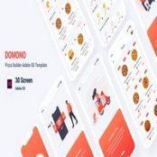 طرح اپلیکیشن سفارش پیتزا Domono