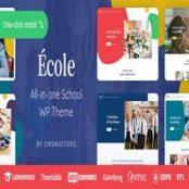 قالب Ecole راست چین برای وردپرس