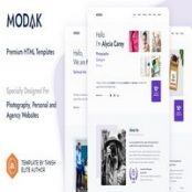 قالب HTML تک صفحه Moda
