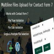 افزونه Multiline files upload برای فرم تماس ۷