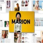 قالب آماده کی نوت Marion – Keynote