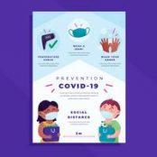 مجموعه طرح لایه باز وکتور مقابله با کرونا Realistic coronavirus vector background, stop covid-19 vol 6