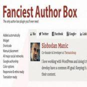 افزونه وردپرس جعبه اطلاعات کاربر Fanciest Author Box