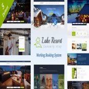 قالب وردپرس Lake Resort