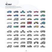 مجموعه آیکون لایه باز ماشین ۳۰ Car Icons
