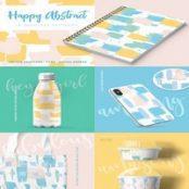 مجموعه پترن Happy Abstract Seamless Patterns