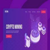 طرح لایه باز ماینینگ بیت کوین Bitcoin Mining Vector Illustration