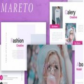 قالب آماده پاورپوینت،کی نوت MARETO – Fashion Powerpoint, Keynote and Google Slides Templates