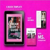 قالب آماده پاورپوینت دختران ورزشکار Fitness Girl EBook Template PowerPoint