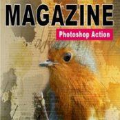 اکشن فوتوشاپ مجله Magazine – Photoshop Action