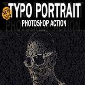 اکشن فوتوشاپ Typo Portrait Photoshop Action