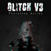 اکشن فوتوشاپ Glitch V3 Photoshop Action