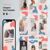 طرح لایه باز قالب استوری ایسنتاگرام Instagram Story Template – Fashion Liquid Style