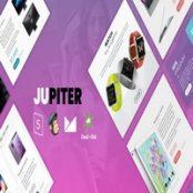 قالب اچ تی ام ال فروشگاهی Jupiter