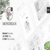 قالب اچ تی ام ال Mondrian