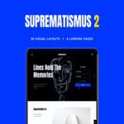 طرح لایه باز رابط کاربری Suprematismus 2