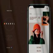 طرح لایه باز رابط کاربری Orabel Mobile UI Kit