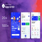 طرح لایه باز رابط کاربری اپلیکیشن پرداخت Payment Wallet App UI Kit
